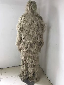 Adjustable Camouflage Suits New Male 3D Universal Woodland Clothes Concealed Hunting Army Military Tactical Sniper Ghillie Set 2