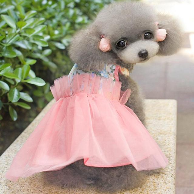 Cute Pet Dog Cloth Wedding Dresses Pet Small Dog Skirts Puppy Cat ...