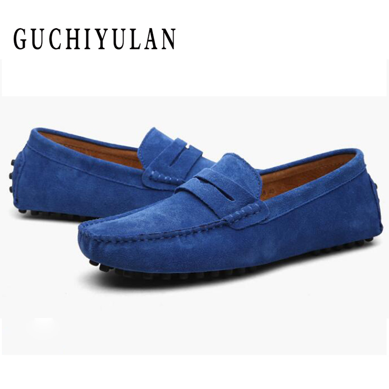 Chaussures Hommes respirant Hommes Chaussures décontractées en cuir de haute qualité Hommes Chaussures grande taille 48 46 47 marron bleu mocassins Hommes mocassins