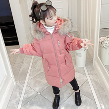 Children's Winter Jacket Coat 2019 Autumn Toddler Girls Hooded Cotton Thick Warm Snowsuit Teenager Kids Outerwear Parka Clothes цены