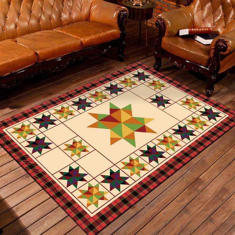 Новый простой геометрический узор коврики европейский ретро прямоугольник гостиная ковры для спальни мягкие Нескользящие прикроватные коврики BS