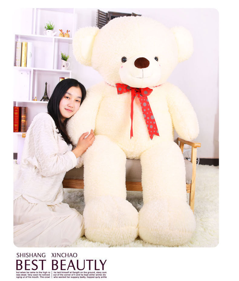 hug-teddy-bear-larggest-160cm-bowtie-bear-plush-toy-hugging-pillow-christmas-birthday-gift-f055