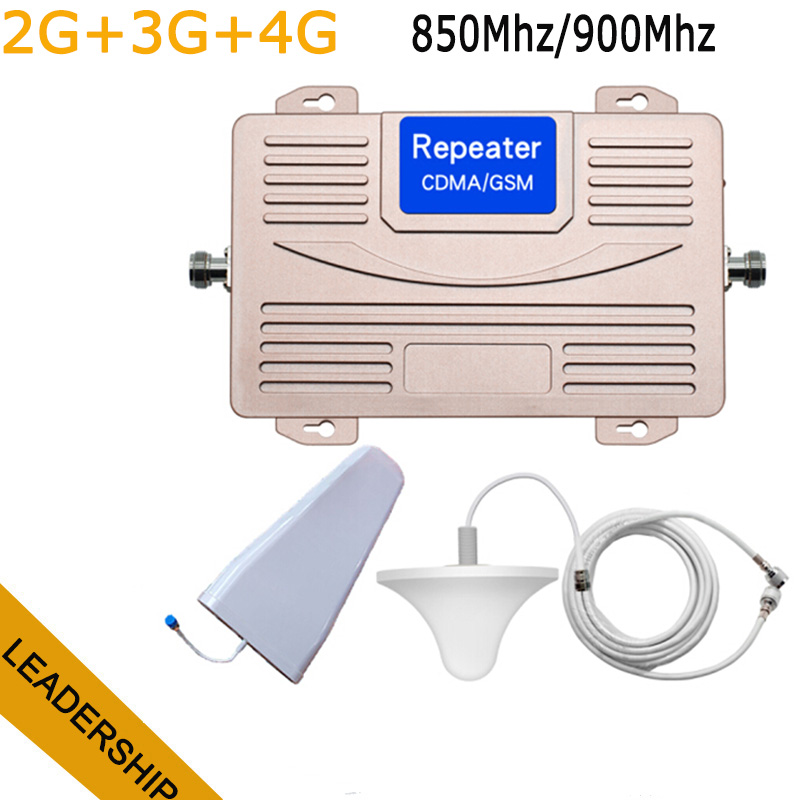 Dual Band HUIBO HB CDMA+GSM 850Mhz/900Mhz 2G 3G 4G Mobile Phone Cell Phone Repeater Signal Booster Amplifier With Antennas