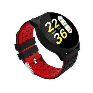 Image 2 - Inseguitore di fitness orologio da polso intelligente Oled di silice banda Heart Rate Monitor di pressione sanguigna tracker vita Impermeabile PKHonor fascia