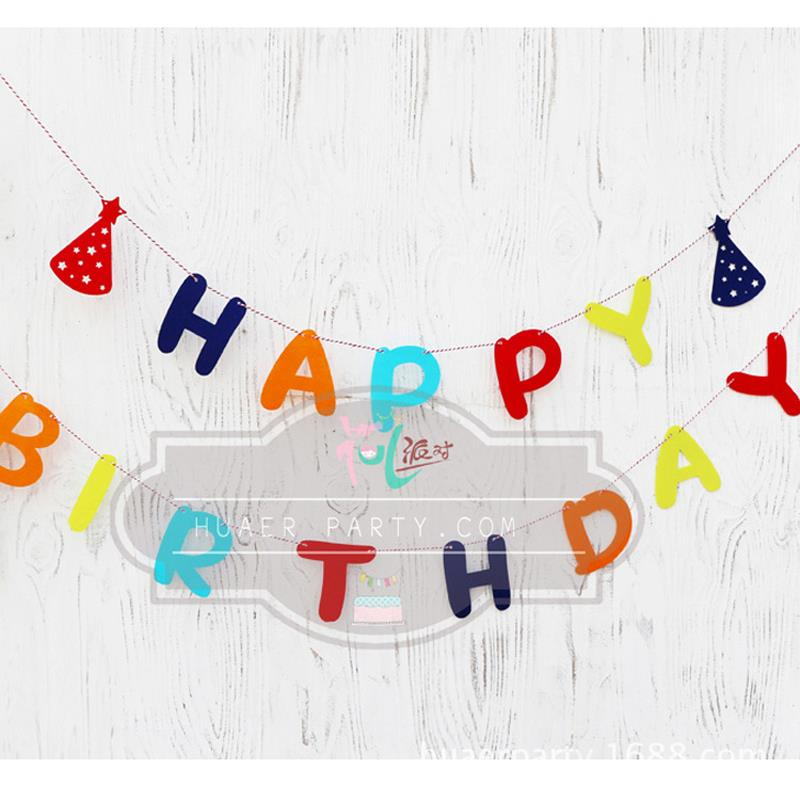non woven garland birthday letter happy birthday baby birthday decoration birthday party decoration letter flag 03