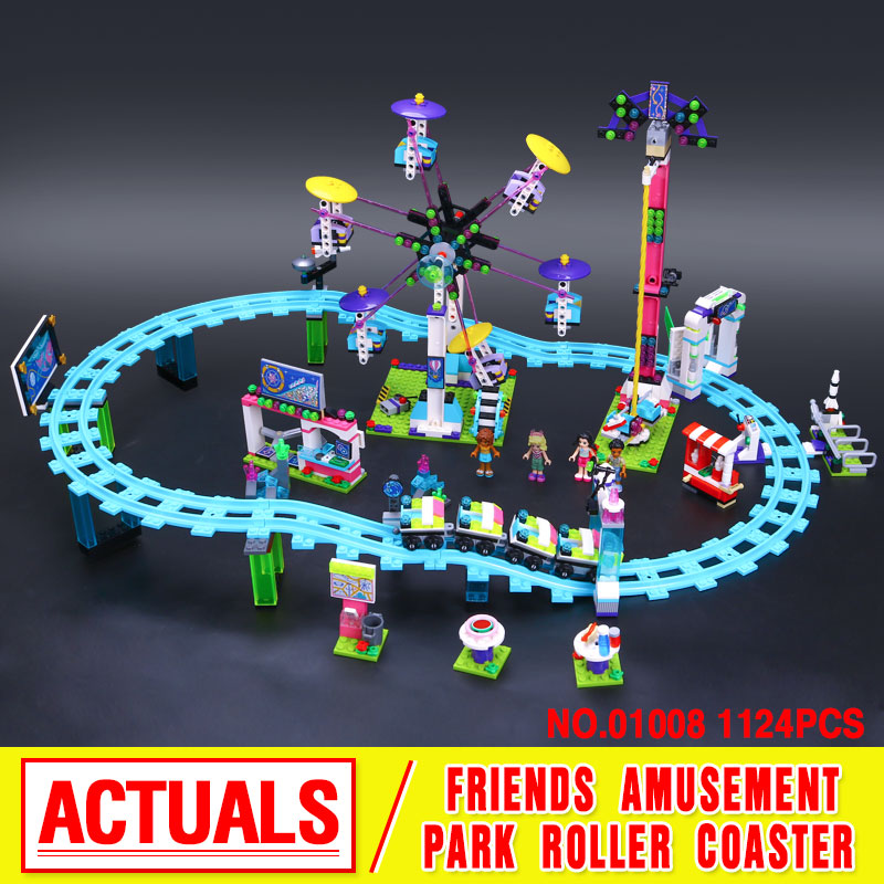 ФОТО Lepin 01008 Model building kits compatible with  city girls  Amusement Park 3D blocks Educational model building toys