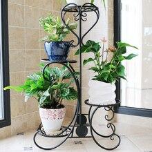 Balcony Multifunctional Metal Living Room Iron Modern Garden Shelves Green  Flower Shelf Flowerpot Rack Decoration(