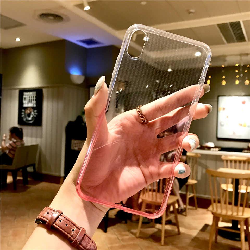 Arc-en-ciel TPU coque de téléphone Pour iphone X XR XS MAX 6 6 s 7 8 Plus Silicone Fundas Huawei P20 Lite P10 Mate 10 9 Honneur 7X 6X 6A