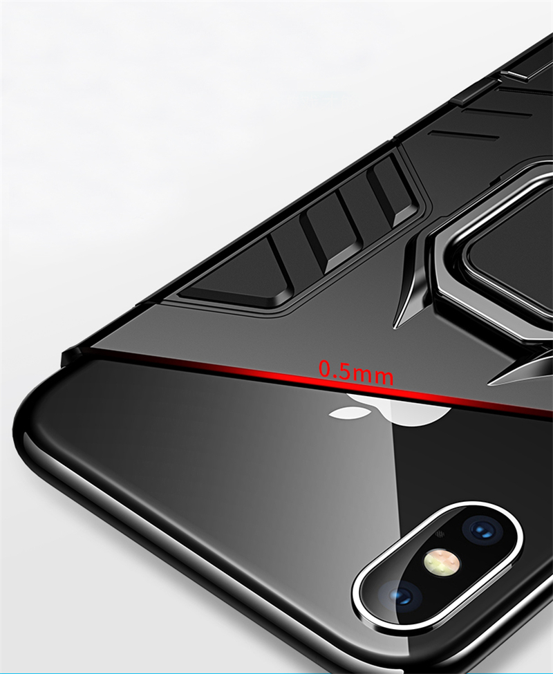 Luxury Armor Shockproof Kickstand Phone Case For iPhone XS MAX XR XS X 8 7 6S Plus 5S SE Ring Stand Holder Bracket Cover Funda (4)
