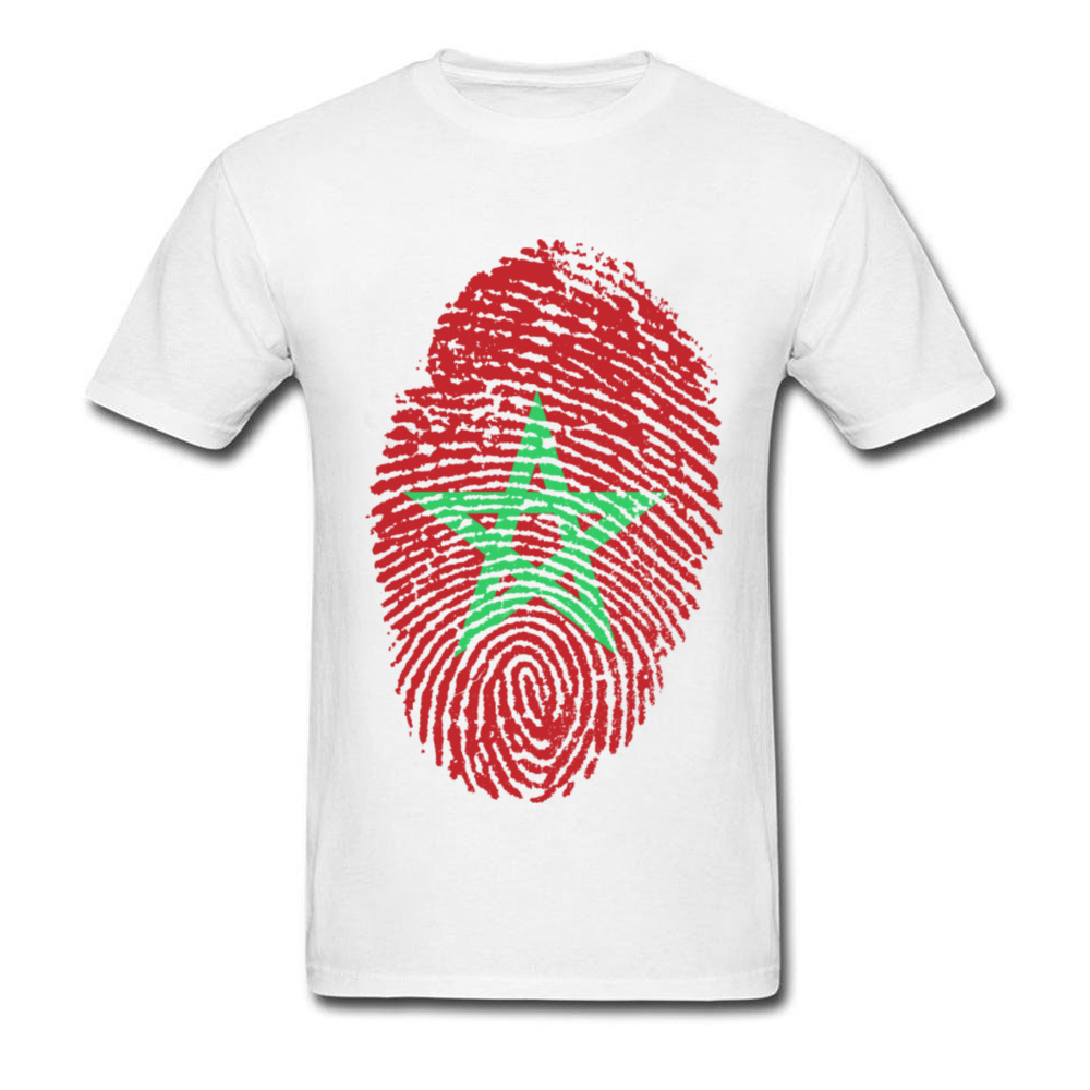 Morocco Flag Fingerprint_white