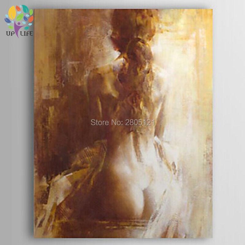 ručně malované nahá olejomalba starý retro styl nahá žena krása plátno umění umělecká díla klasická zeď dekorace obrázek obrázek