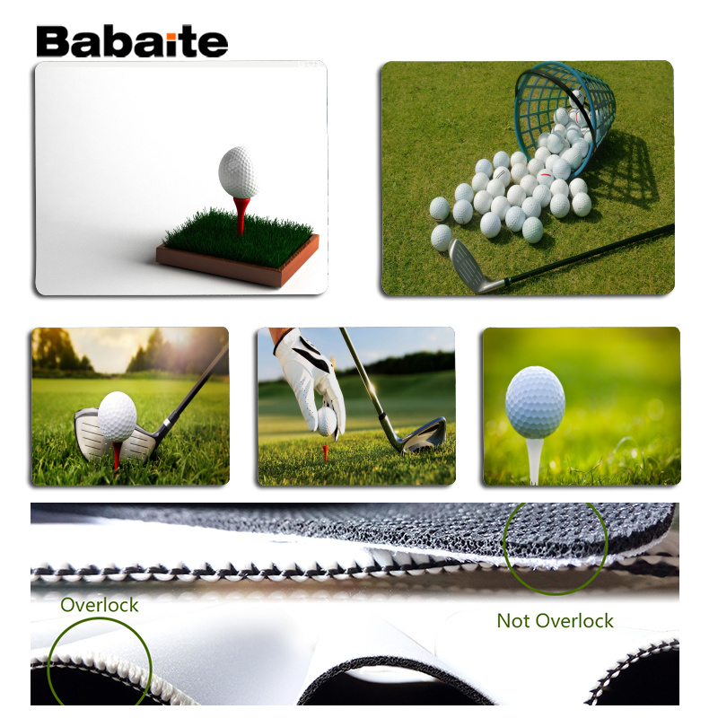 Babaite Funny Golf Laptop Gaming Mice Mousepad Size for 180x220x2mm and 250x290x2mm Small Mousepad