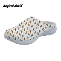 doginthehole Summer Sport Sandals Tiny Longhaired Dachshunds Printing Outdoor Beach Shoes for Women Flat Slippers Sports Ladies