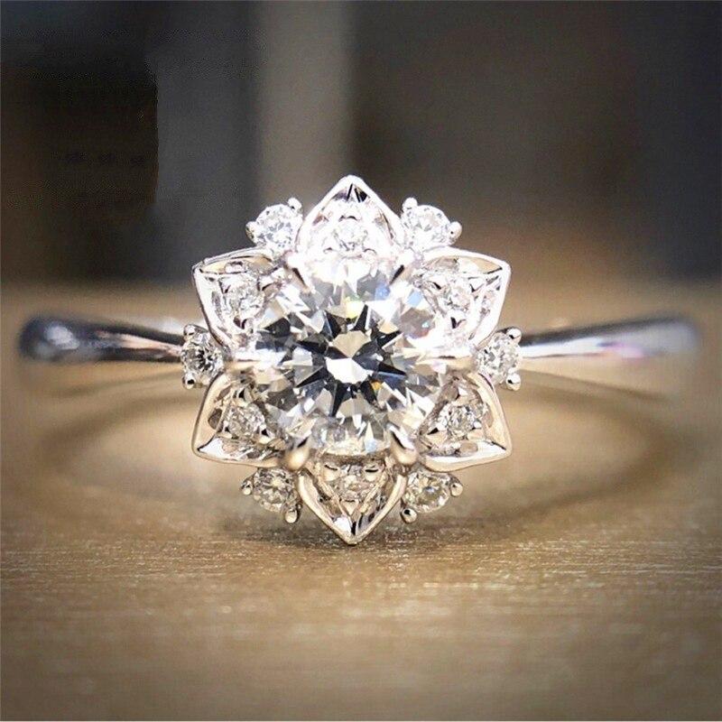 LOREDANA женское модное роскошное хрустальное кольцо в форме цветка, украшение из кристаллов, подходит для вечеринок и свадеб