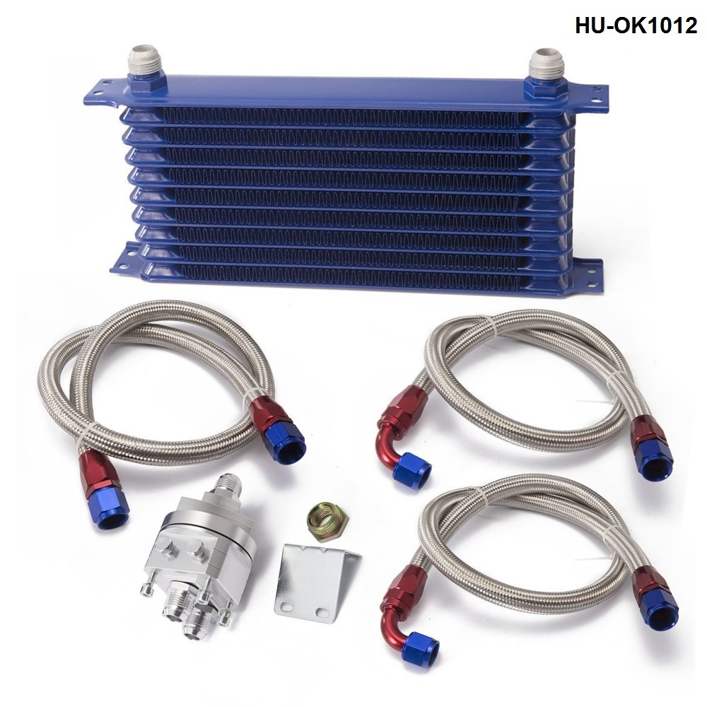 UNIVERSAL 10 ROW OIL COOLER KIT WITH OIL FILTER RELOCATION KIT FOR TURBO RACE HU-OK1012 видеоигра бука saints row iv re elected