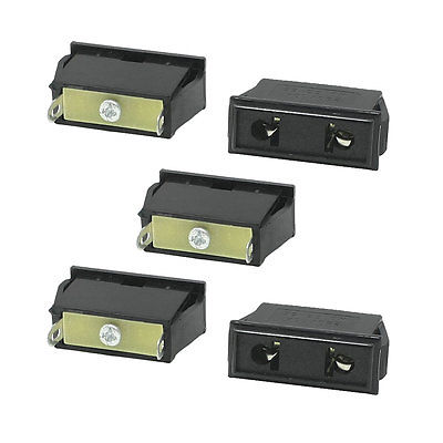 5 Pcs Panel Mounting US EU Type Female Power Supply Plug 10A AC 250V 22mm mounting diameter metal usb2 0 female a change to female a black surface