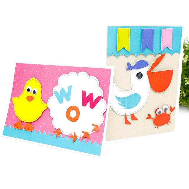 Deli 3D Sticker Kawaii Animals Kids DIY Sticker 3D Cards Kit Children Handmade Origami Paper Creative Sticker Development IQ/EQ