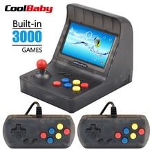 المحمولة الرجعية وحدة تحكم بجهاز لعب محمول صغير 4.3 بوصة 64bit 3000 ألعاب الفيديو الكلاسيكية الأسرة لعبة وحدة التحكم هدية الرجعية ممر
