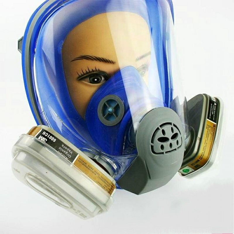 Party Masks For 6800 Silicone Gas Mask Full Facepiece Respirator Painting Blue Full Face Spraying Mask Anti Dust Back To Search Resultshome & Garden