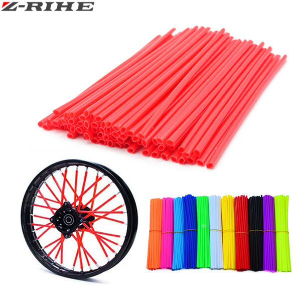 Universal Motorcycle Dirt Bike Enduro Off Road Wheel Rim Spoke Shrouds Skins Covers For kawasaki KTM 144 150 120 SX 250 EXC-F XC motocross dirt bike enduro off road wheel rim spoke shrouds skins covers for yamaha yzf r6 2005 2006 2007 2008 2009 2010 2011 20
