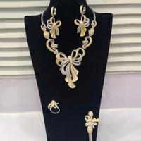 GODKI Trendy 4pcs Wedding Necklace Earring Set For Women Full Cubic Zircon Bridal Jewelry Sets pendientes mujer moda 2019