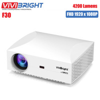 Original VIVIBRIGHT F30 LCD Projector Home Entertainment Commercial FHD 1920 x 1080P 4200 Lumens