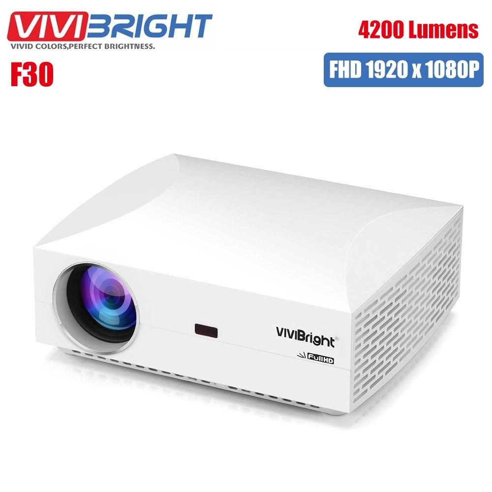 Projecteur LCD Original VIVIBRIGHT F30 divertissement à domicile Commercial FHD 1920x1080 P 4200 Lumens