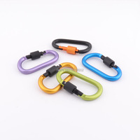 10pcs 78*40mm Durable aluminum alloy D Ring carabiner large buckle Clip Camping Snap hook Keyring Keychain for outdoor