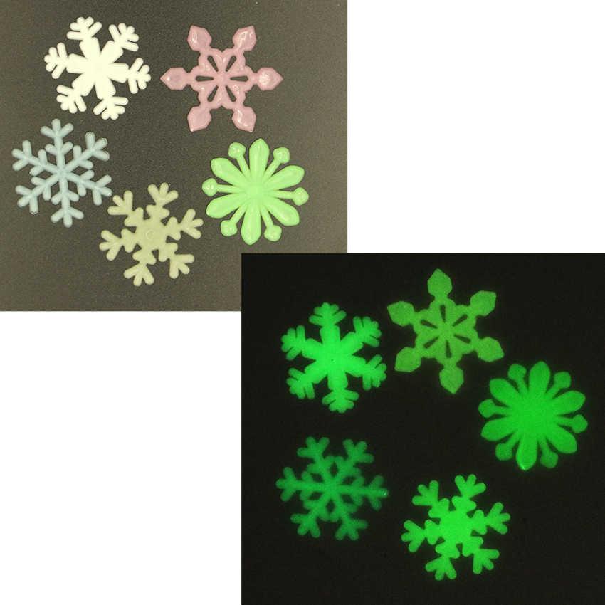 48 יח'\סט צבעוני זוהר בית Snowflake קיר מדבקה זוהר בחושך מדבקות לילדים בייבי חדרי ניאון מדבקות דקור
