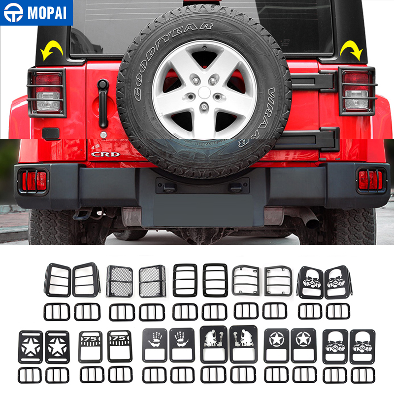 MOPAI Car Tail Light Lamp & Rear Bumper Fog Light Lamp Cover Exterior Protection for Jeep Wrangler 2011 Up Car Styling car styling rear lamp light for bmw serie 3 e90 rear outer light 2008 2011