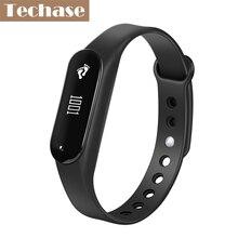 Techase монитор сердечного ритма Bluetooth Mi Band фитнес-трекер спортивный cicret браслет SmartBand шагомер Pulsera actividad fitbit