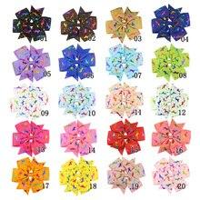 Bebê Padrão Speckle Colorido Fita Arco Bonito Meninas Grampos Crianças Grampo de Cabelo Acessórios de Cabelo Headwear Com Brocas 20 Cores