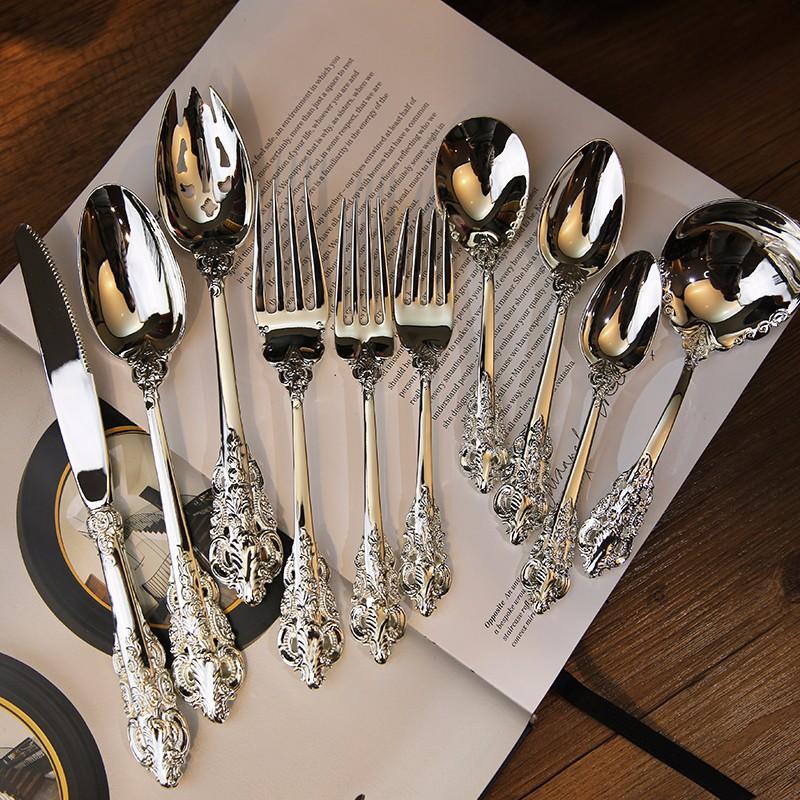 10pcs set Retro Spoons Knifes Forks (4)