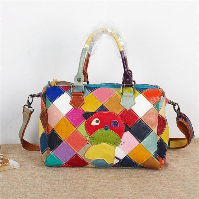 Caerlif NEUE Qualität Luxus Marke kuhfell Muster Leder Haustier ...