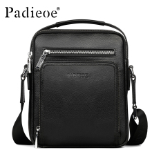 Padieoe Brand Men Shoulder Bags 100% Genuine Leather Men Messenger Bag Casual Crossbody Bag Business Men's Handbag Bags For Gift