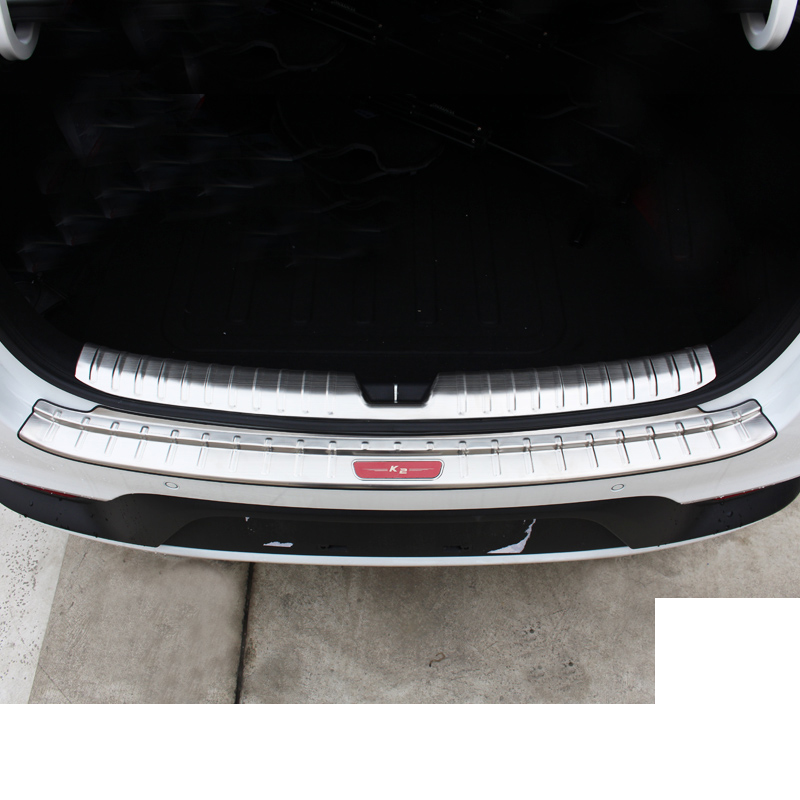 lsrtw2017 stainless steel car trunk trims protection for kia rio 2017 2018 2019 k2 in Interior Mouldings from Automobiles Motorcycles