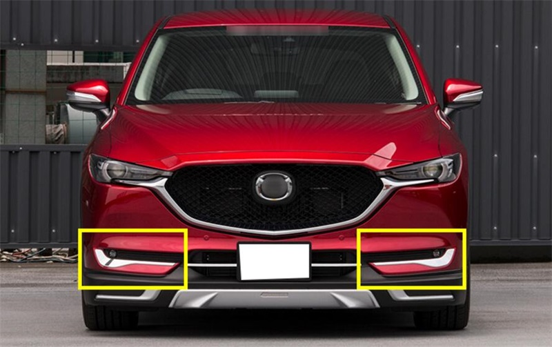 Car Styling <font><b>Accessories</b></font> For <font><b>Mazda</b></font> CX-5 <font><b>CX5</b></font> <font><b>2017</b></font> 2018 Front Fog Light Foglight Lamp Under Protector Lid Eyelid Eyebrow Cover Trim image
