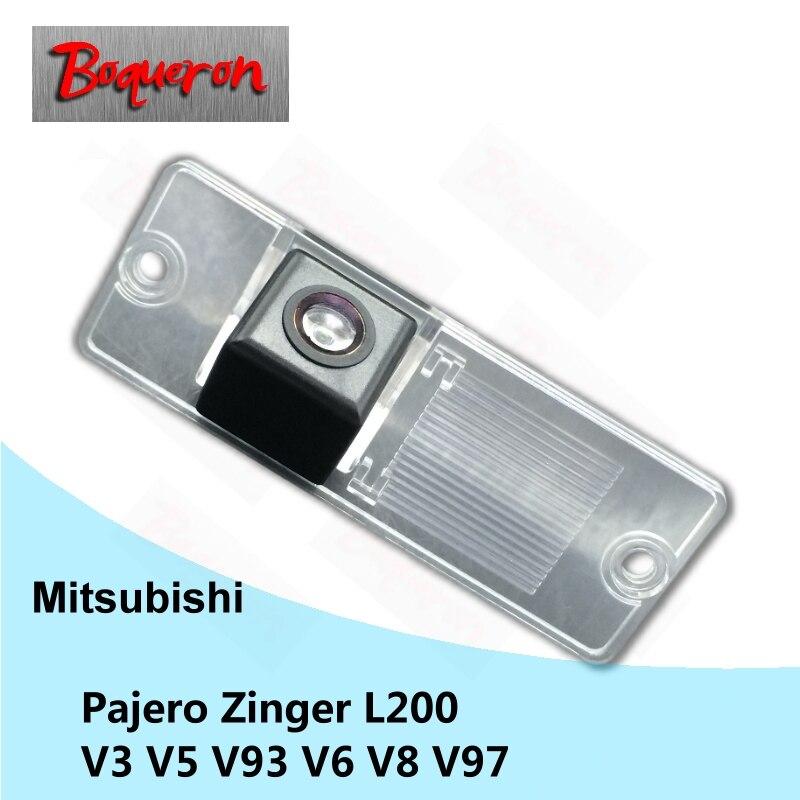 BOQUERON for Mitsubishi Pajero Zinger L200 V3 V5 V93 V6 V8 V97 License Plate Lamp CCD HD Car Reversing Parking Rear View Camera churrasqueira para fogão