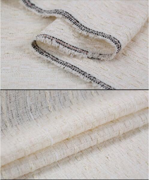 Vlněná tkaná tvídová tkanina pro šití na jaře Evropská americká prodyšná Twist vůně Bavlněná tkanina Nové látky 9colors
