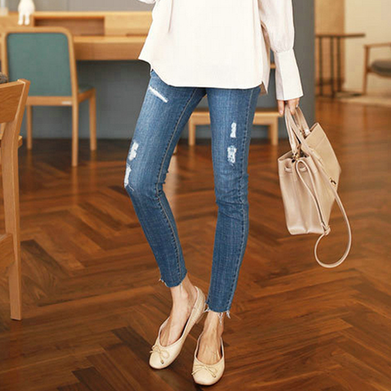 Pregnancy Jeans Maternity Pants For Pregnant Jeans Women Clothes Trousers Nursing Prop Belly Legging Pregnancy Clothing Overalls woman fashion slim solid knee distrressed maternity wear jeans premama pregnancy prop belly adjustable pants for women c73