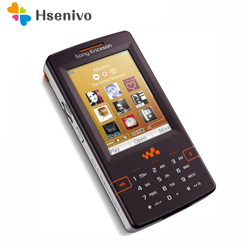 W950 100% Original Unlokced Sony Ericsson W950 W950i Mobile Phone 2G Bluetooth FM Unlocked Cell Phone Free Shipping