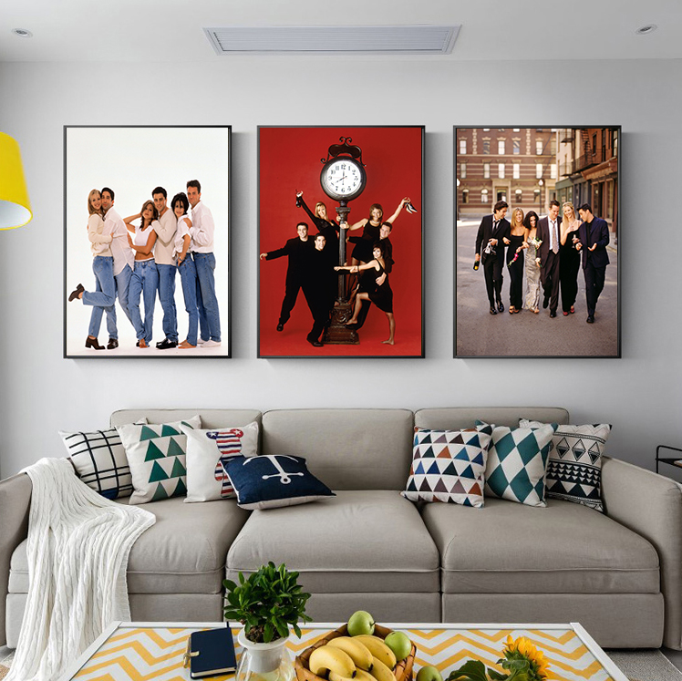 Tv Show Poster Friends American Drama Movie Vintage Paintings Teen Rooms Decor Cuadros Decoration Salon Wall Art Paint Painting Calligraphy Aliexpress