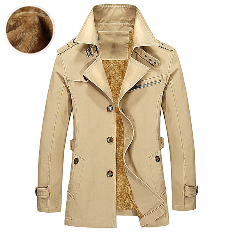 ФОТО New 2017 Mens fine cotton fashion wool keep warm leisure business jacket coats / Men's pure color high-grade casual jackets coat