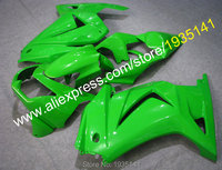 Hot Sales,For Kawasaki Ninja 08 09 10 11 12 plastic fairing ZX 250R ZX 250 2008 2012 EX250 green body kit (Injection molding)