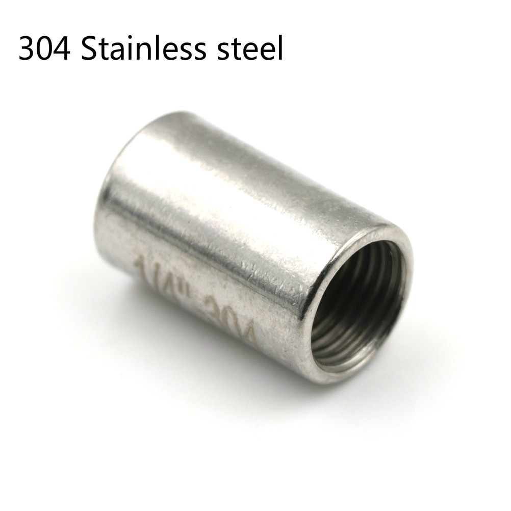 304 Stainless Steel Round Nut Rod Pipe Fitting Connector 1/4'Adapter BSP Female Threaded Max Pressure