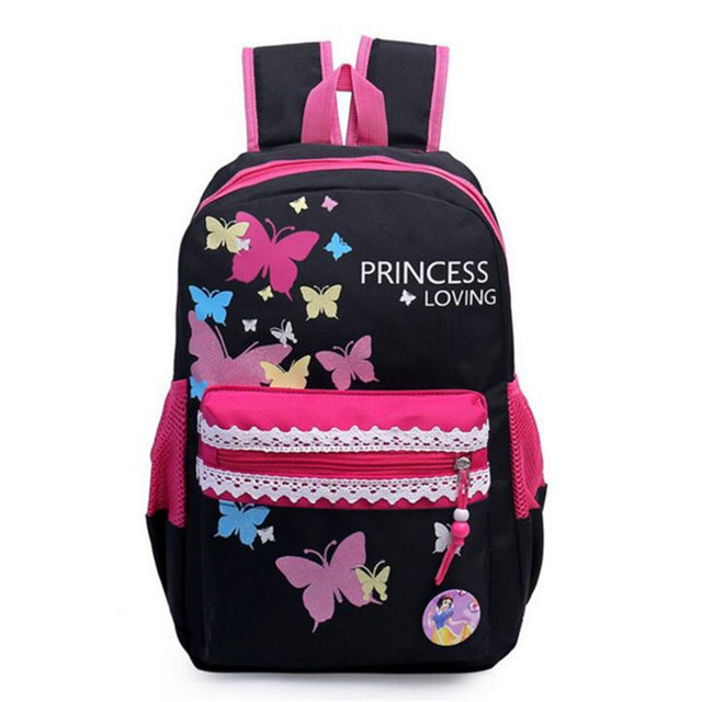2016 children school bags causal Butterfly Print backpack school backpacks nylon school bags for girls and teenagers book bag
