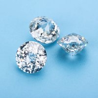Clear white EF color moissanite diamonds 10mm round jubilee cut moissanites loose gems stones for jewelry making
