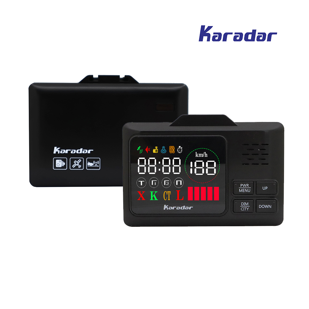 2018 Car Radar Detectors 2 in 1 Police Speed GPS for Russian 2.4 inch LED Display 360 Degree X K CT L Anti Radar Car-detector chuangzhuo 1 2 lcd intelligent full frequency conversion 360 radar detector for car black orange