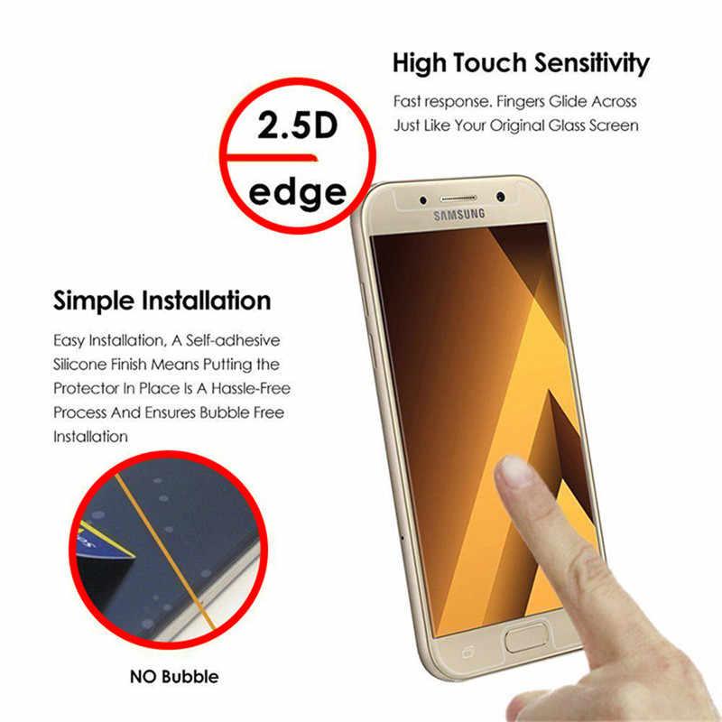 Xindiman قسط الزجاج المقسى ل samsung GalaxyA3 A5 A7 2016 2.5D ل samsung A6 A6plus 2018 الزجاج A3 A5 A7 a8 2018 حامي