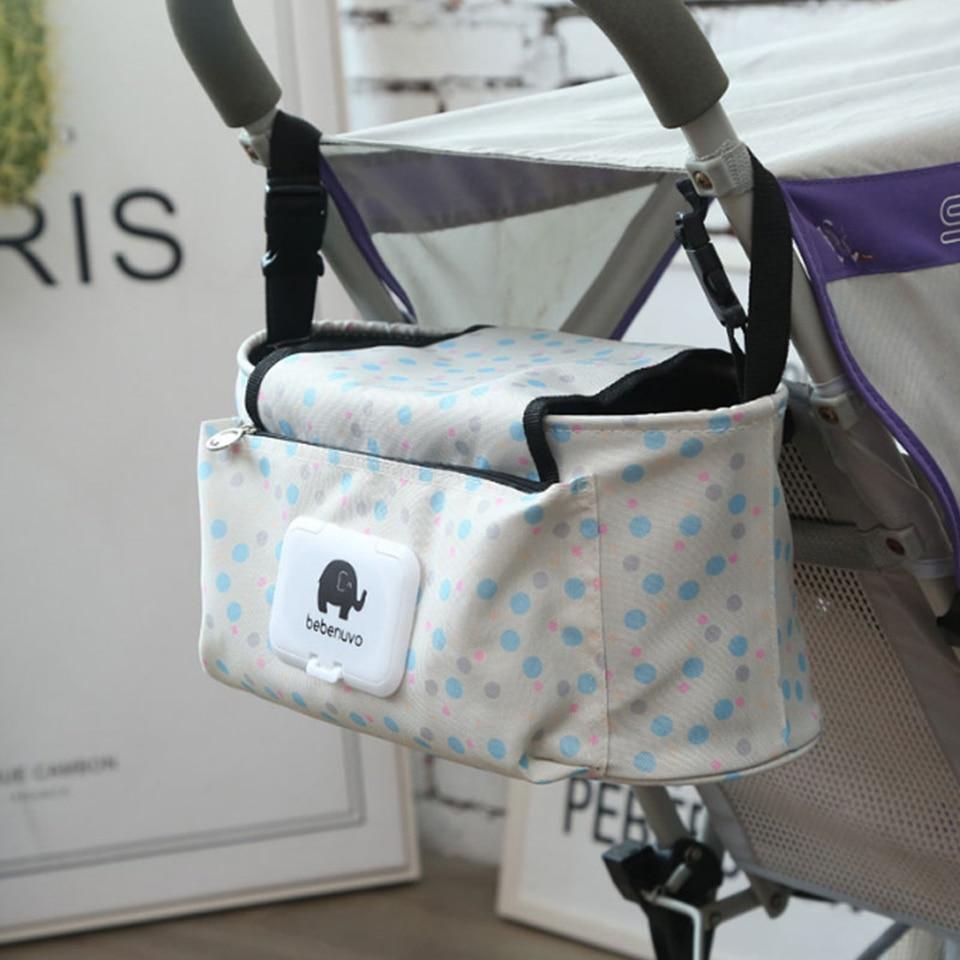 Multifunctional Stroller Hanging Storage Bag With Shoulder Strap Baby Diaper Bag For Mummy Bag Baby Nappy
